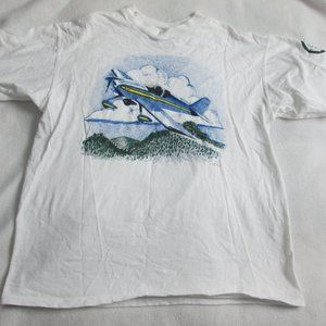 VTG AIRPLANE T-SHIRT SIZE LARGE